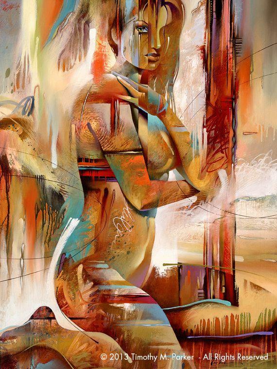 Édition limitée de 50 cette oeuvre de figuratif abstrait AURA - tirages Fine Art sur papier texturé ou toile - combine lénergie aléatoire dune peinture