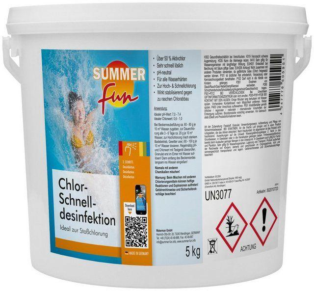 Wasserpflege Chlor Schnelldesinfektion 5 Kg Granulat