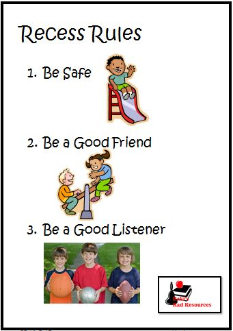 8 ways to make recess fun and save from the first day of school - free poster with recess rules - from Raki's Rad Resources.