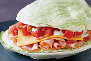 Breadless Turkey BLT. I like this idea! Omit miracle whip though because it's gross.