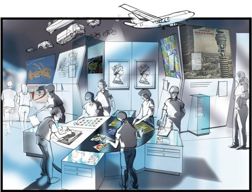"Visualisation of our new exhibition space - Zone 4: ""Style and Design""."