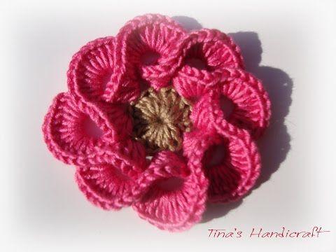 How to Crochet Easy Flower - YouTube