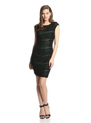 56% OFF Muse Women's Novelty Knit Fitted Sheath (Black Neon)