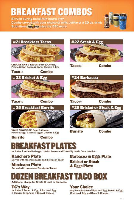 Taco Cabana Breakfast Combos