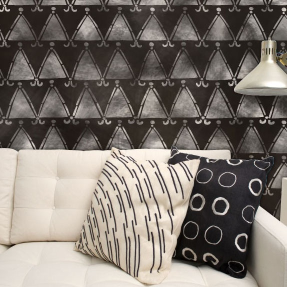 Trend Alert Dalmatian Print Home Decor: Tribal Triangles African Wall Stencil