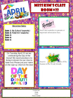 6ee10bbf77739ea68cd2338c4e7873c1 Sample Daycare Newsletter Templates For Parents on blank monthly, visual performing arts, nutrition program,