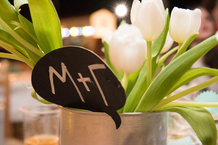 TARSANAS WEDDING PARTY-SYROS tulips white initials| lafete