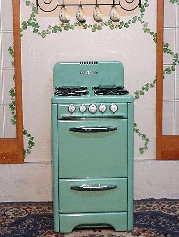 Antique Gas Stoves Mint Green Porcelain Vintage O'Keefe & Merritt