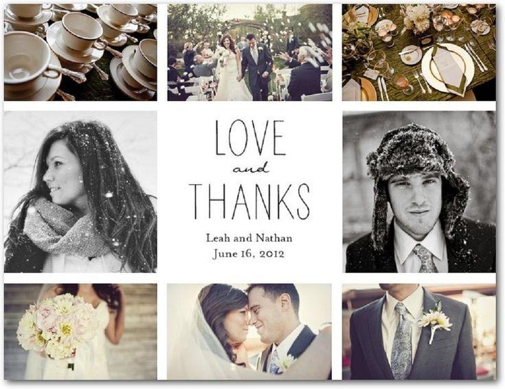 Simple wedding thank you card wording