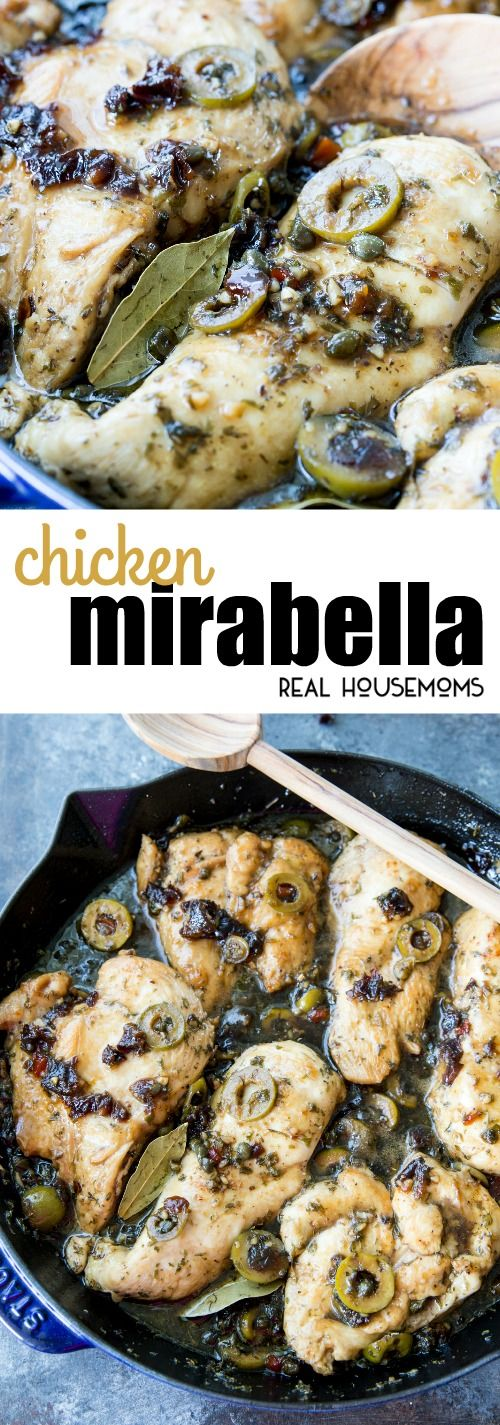 Deliciously flavorful Chicken Mirabella is one of the best things I have ever eaten. Seriously, a total favorite, and super easy to make too! via @realhousemoms