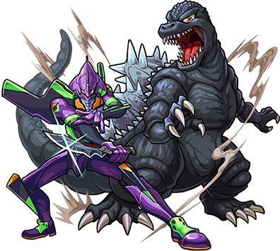 astoundingbeyondbelief: Triple crossover: Godzilla and NGE in…