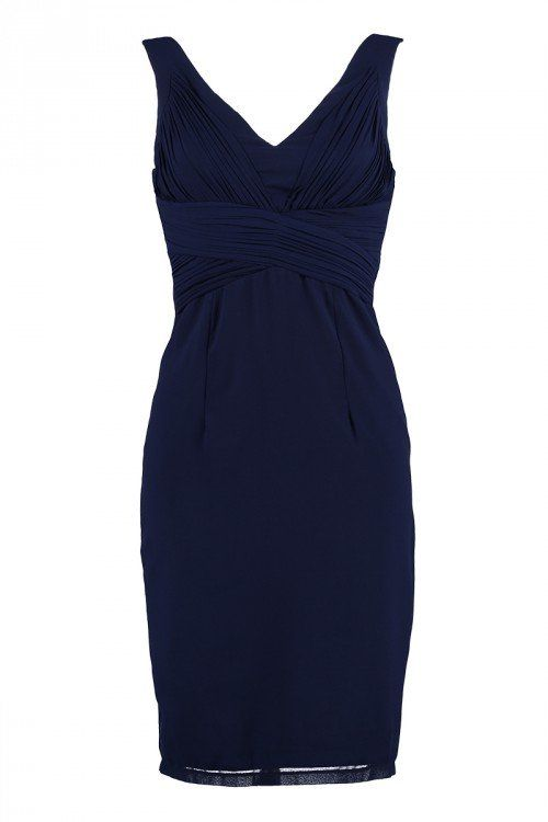 Floyd kjole Janice kort navy mørkeblå