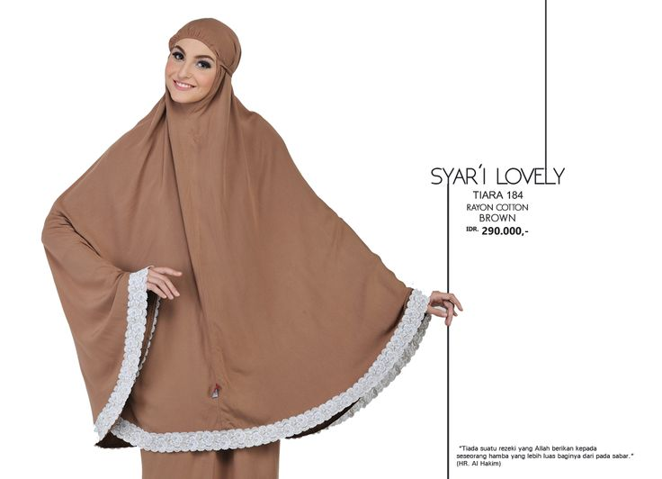 Syar'i Lovely - Tiara 184 Rayon Cotton  Brown AVAILABLE only IDR 290.000,-