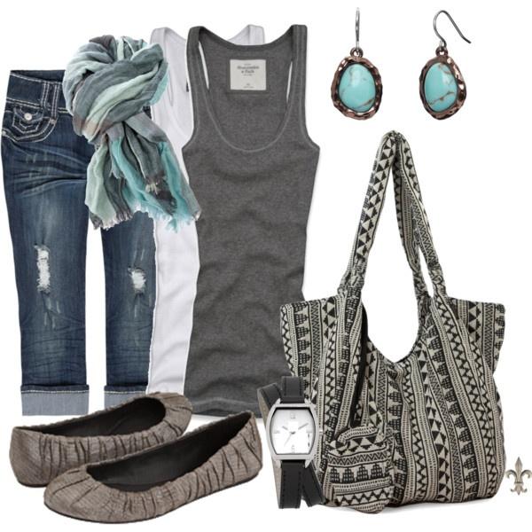 gray and aqua