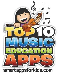My Top 10 Music Education Apps list has an awesome new logo. So proud *sniff*. - Ellie