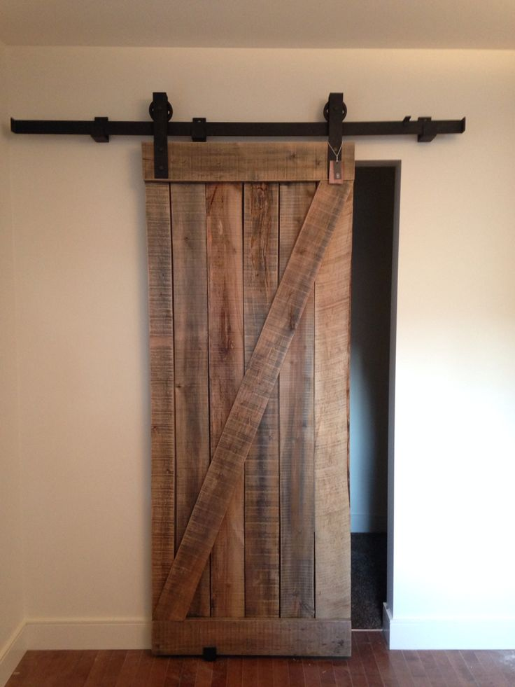 Raw Wood Z Barn Door Handmade In Vernon Bc Naturally Aged And Truly Reclaimed