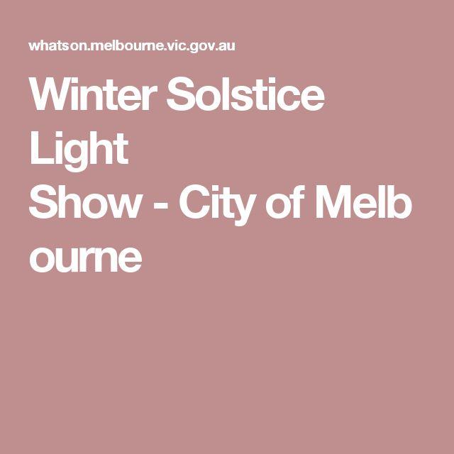 Winter Solstice Light Show-CityofMelbourne