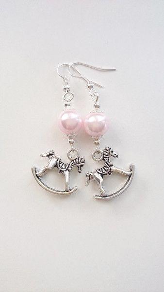 #forwomen #earrings Kolczyki+konik+na+biegunach+w+barbarella+na+DaWanda.com
