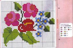 ♥Meus Gráficos De Ponto Cruz♥: Flores - Ramalhetes em Ponto Cruz
