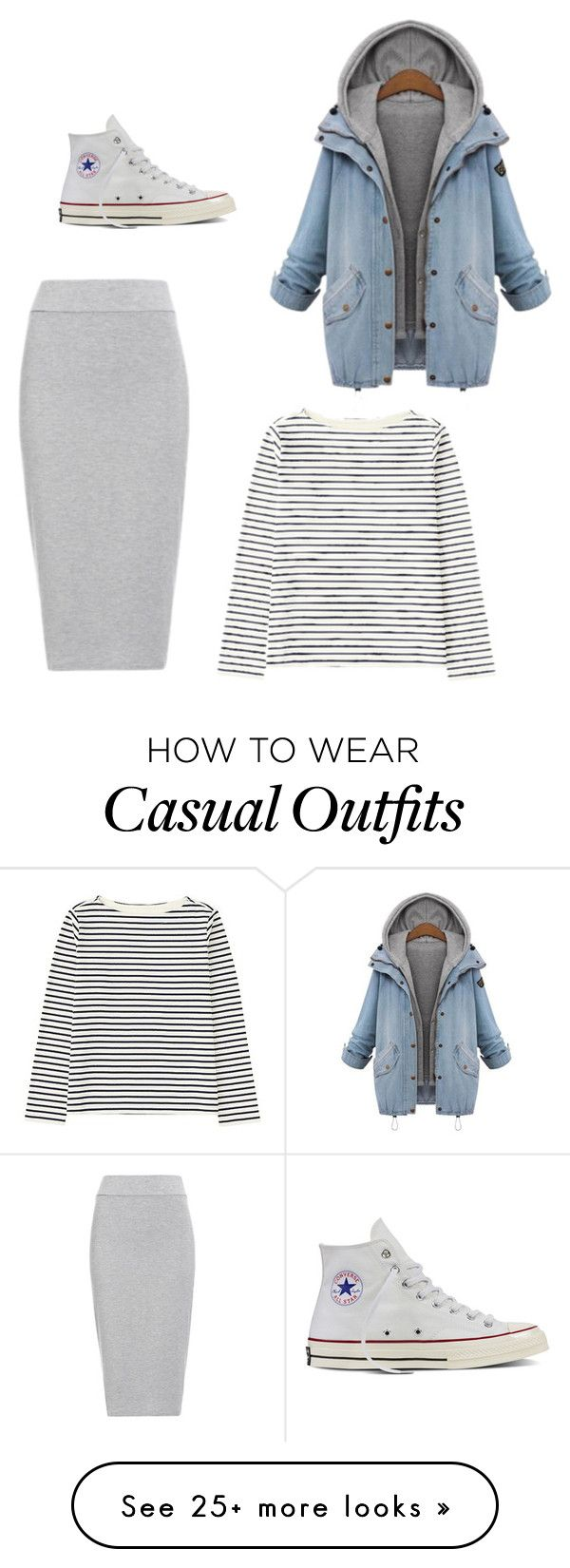 """Casual"" by elidaarellano on Polyvore featuring BLQ BASIQ, Converse and Uniqlo"