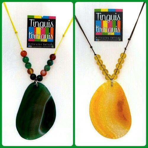 Collares Lajagatados Verdeoliva y Tangelo #tinguistiringuis  #accesoriosfelices  #Playerastyle  $18K