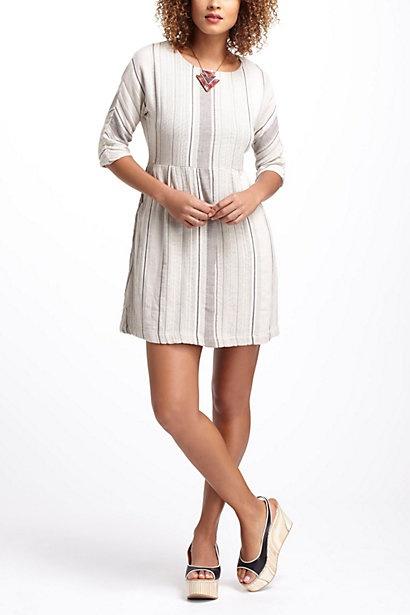 Striped & Pleated Mini Dress #anthropologie