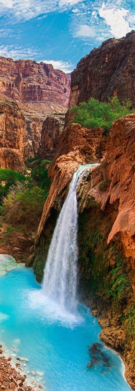 Reservación India de Havasupai, caída de Havasu, Parque Nacional del gran cañón, Arizona, los EE. UU.