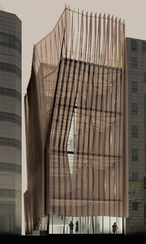Pleats on Obzee Fashion House in Seoul, Korea by Himma Architecture Studio