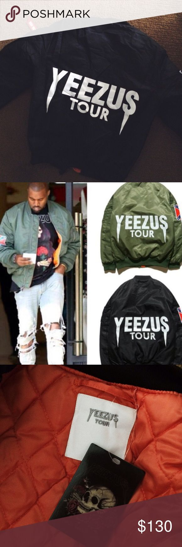 YEEZUS BOMBER JACKET NEW WITH TAGS!! Received this as a present because.. Well I love Kanye. Unfortunately he designed it with a confederate flag patch on the arm & I'm not about to sport that. I was thinking of taking it off but I didn't want to take away from the artistry. Yeezy Jackets & Coats