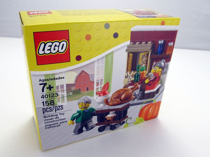 Thanksgiving Lego Set Decor Rare Legos Vintage Classic Seasonal Turkey Day New #RareLegoSet
