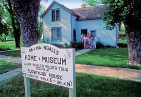 De Smet, South Dakota Home of Laura Ingalls Wilder, 1879-1894, final stopping place for her family. Visitors can see 17 sites mentioned in her books, including the Ingalls Home and Surveyors' House. If you can, visit during Pageant time.