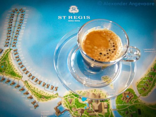 Greeted by an impressive expresso machine in our room, I promptly made myself a cup while looking at how expansive our resort really was, it looked like a lot of walking is in our future!  ~ Bora Bora, French Polynesia