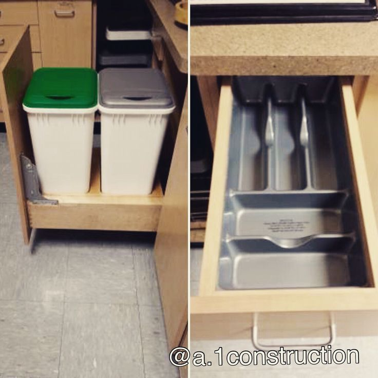 Pull out drawers to keep everything organized!