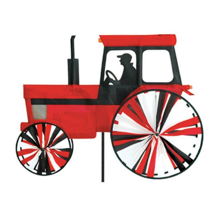 Premier Designs Modern Tractor Red Wind Spinner - PD25658