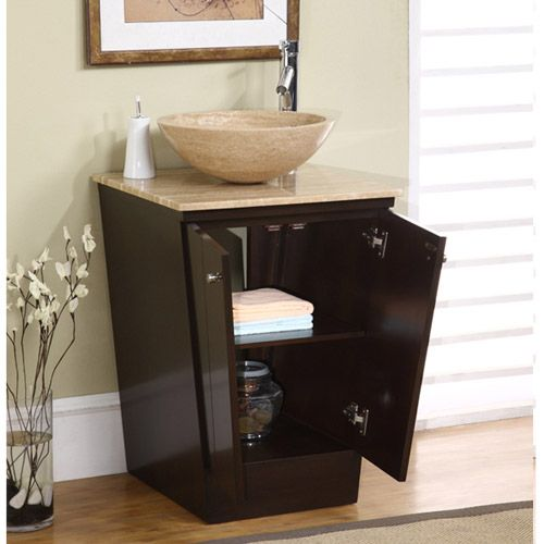 spectacular bathroom vanities brampton. Shop Silkroad Exclusive Lillian Brown Vessel Single Sink Bathroom Vanity  with Travertine Top Common x Actual 33 best Powder Room images on Pinterest Bathrooms and