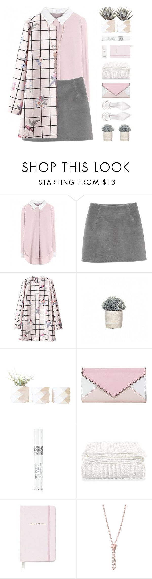 """""""Crushed Petals"""" by kearalachelle ❤ liked on Polyvore featuring Chloé, Monki, Pomax, Rebecca Minkoff, Christian Dior, Chanel, Kate Spade and Zara"""