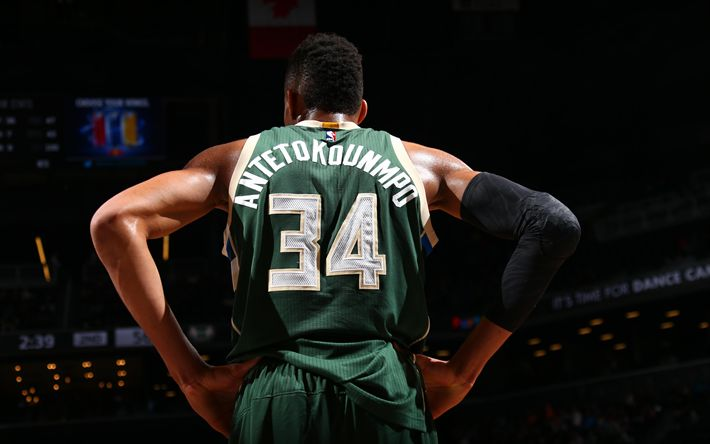Download wallpapers Giannis Antetokounmpo, Greek basketball player, NBA, USA, basketball, Milwaukee Bucks
