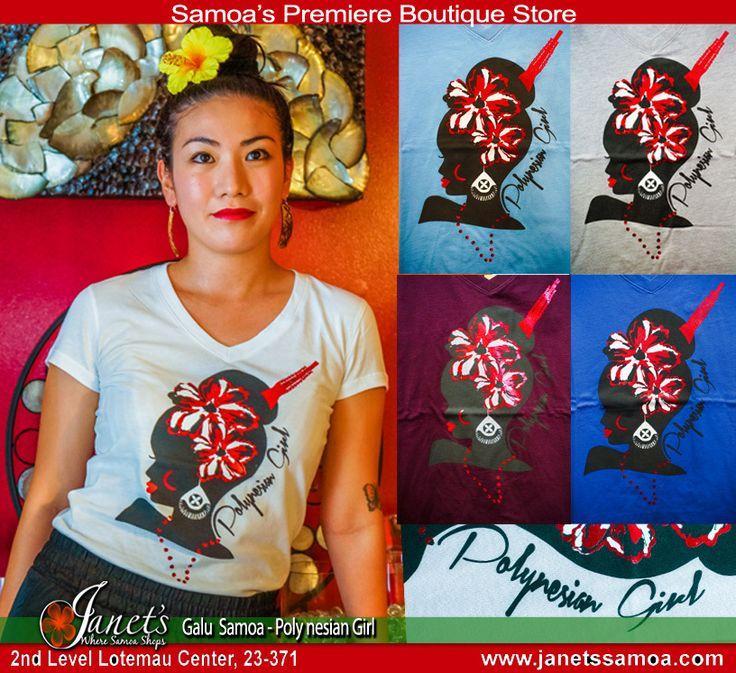 "Janet's - Galu Samoa Women's T-Shirt ""Polynesian Girl"", 39.83 USD (http://www.janetssamoa.com/galu-samoa-womens-t-shirt-polynesian-girl/)"