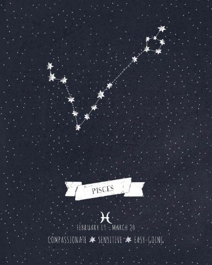Pisces star constellation tattoo
