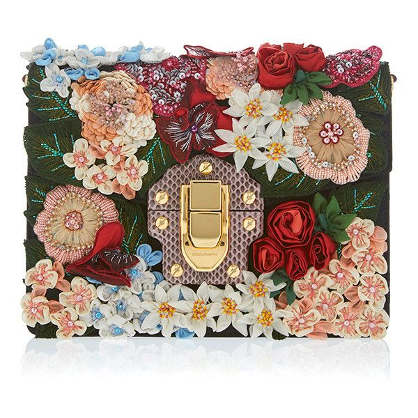 Dolce & Gabbana Brocade Floral Clutch ($6,795) ❤ liked on Polyvore featuring bags, handbags, clutches, floral, floral handbags, dolce gabbana purses, embroidered purse, floral purse and floral clutches
