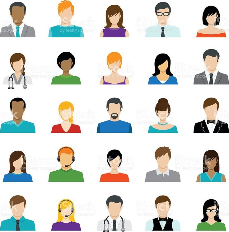 Set of Avatar Color Icons stock vector art 85517893 - iStock