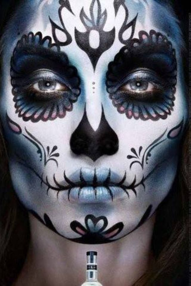 1000 images about la catrina make up on pinterest costumes sugar skull makeup and calavera. Black Bedroom Furniture Sets. Home Design Ideas