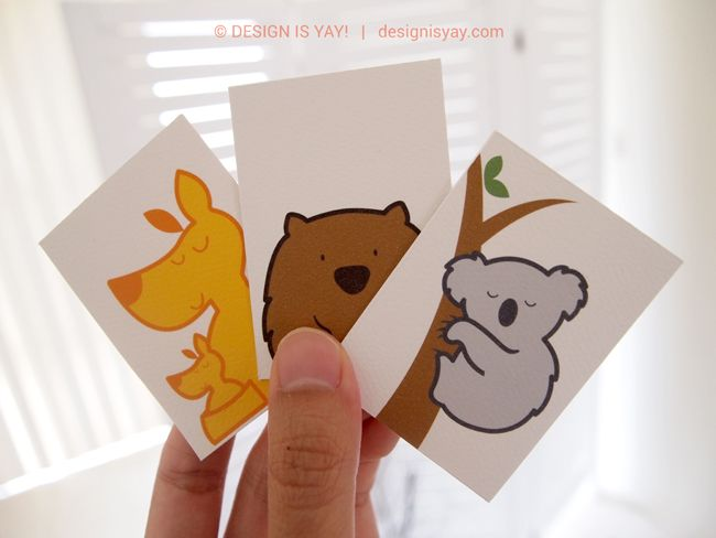 Australian Animals Flash cards Printable