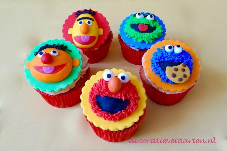 Cupcakes 'Sesamstraat' - detail