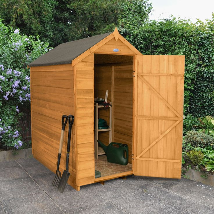 6x4 Apex Overlap Wooden Shed With Embly Service