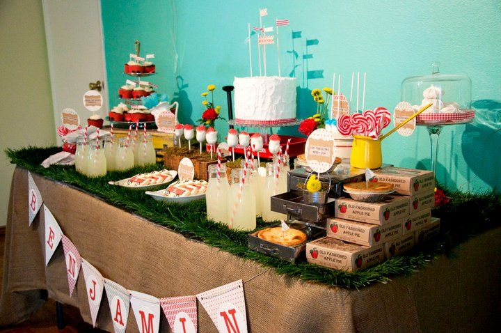 Vintage Red Wagon {Radio Flyer} Birthday Party - Kara's Party Ideas - The Place for All Things Party