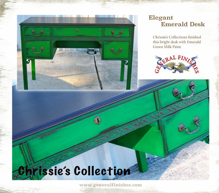 111 best painted desks images on pinterest - How to mix emerald green paint ...