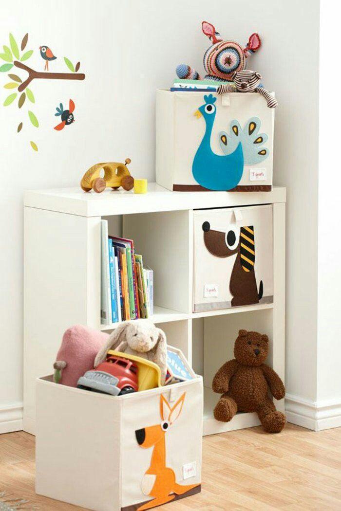 Rangement des jouets - meuble ikea- caisses 3 sprouts