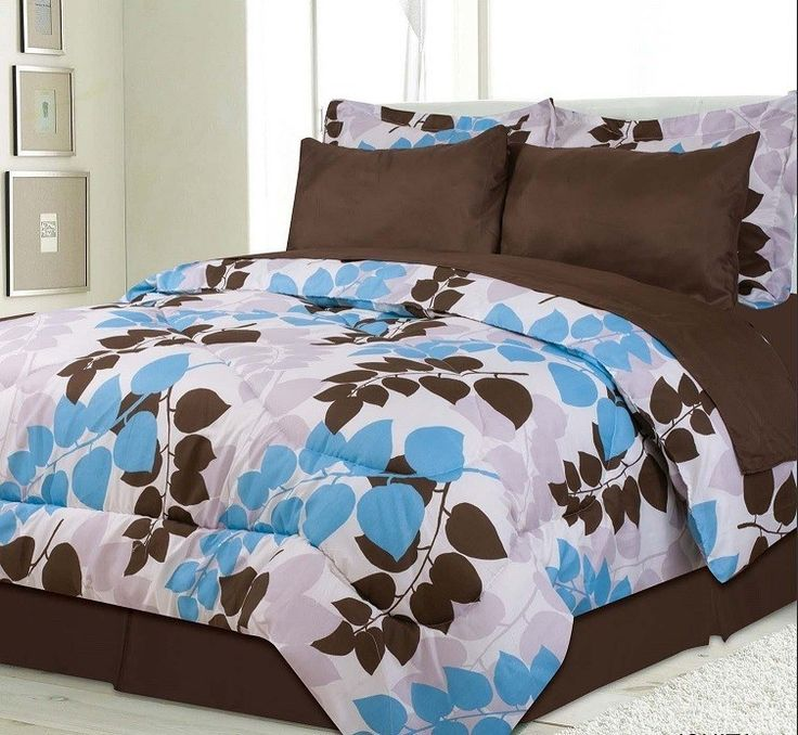 Kids Bedding Ishita Brown Blue Bed In A Bag Blue