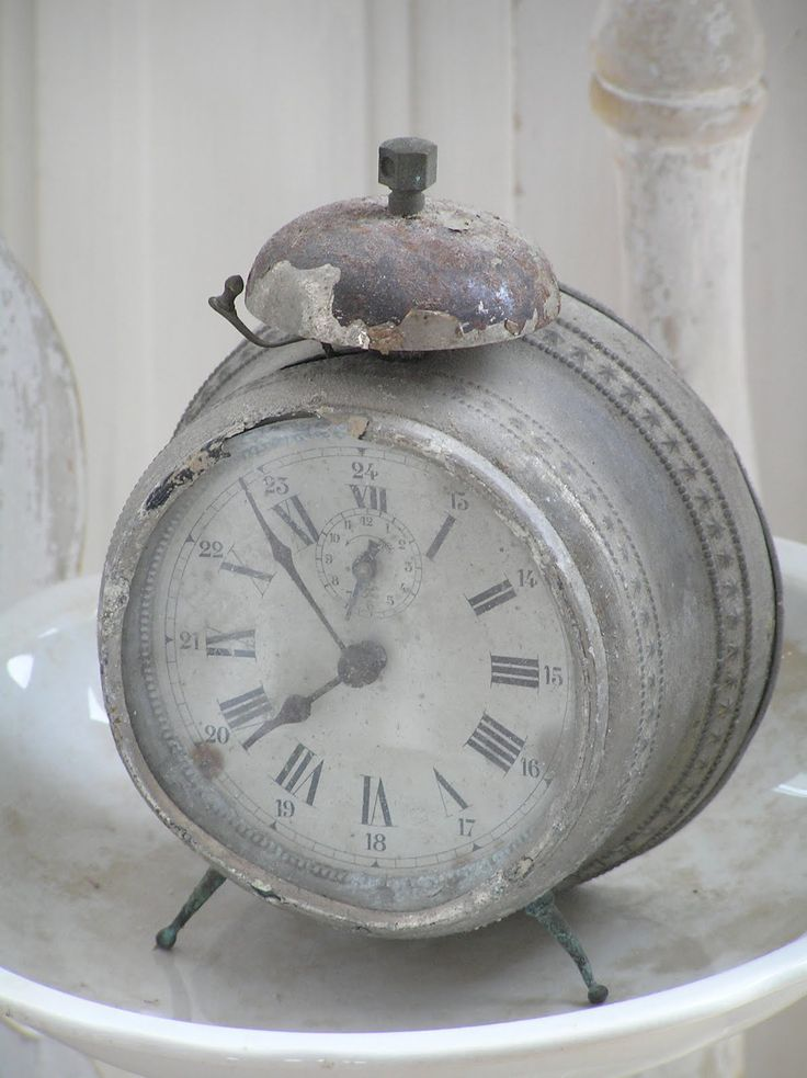 Antique grey clock...